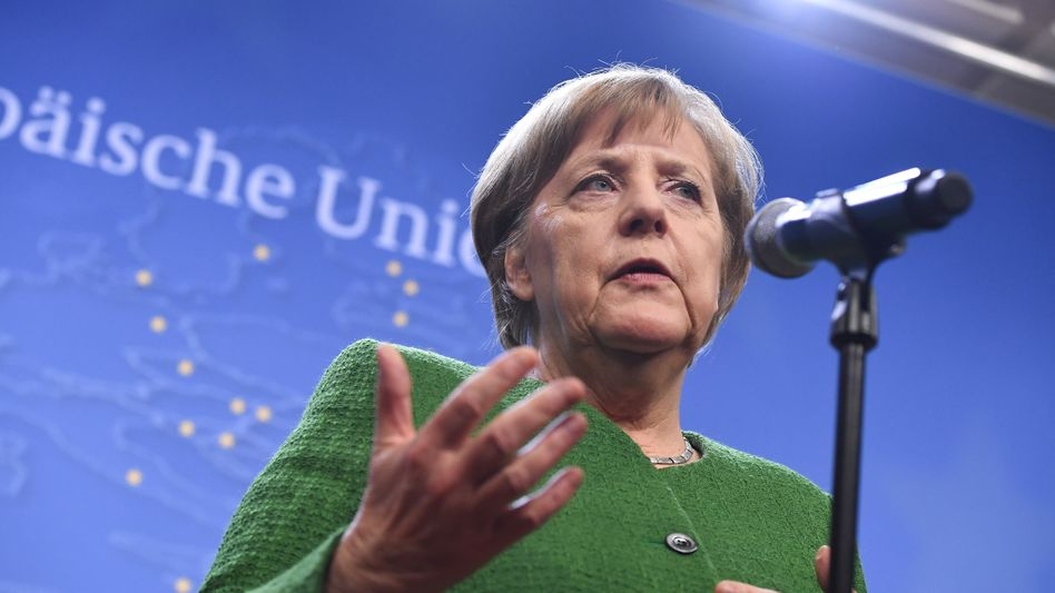 Kanzlerin Angela Merkel in Brüssel