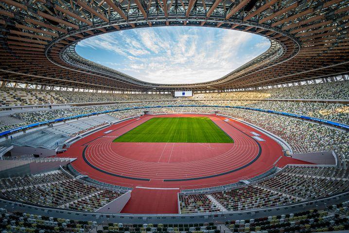 Die große Leere? Mehr als 68.000 Menschen haben normalerweise im Nationalstadion von Tokio Platz. Wie viele Zuschauer im Sommer tatsächlich dabei sein dürfen, ist noch unklar.