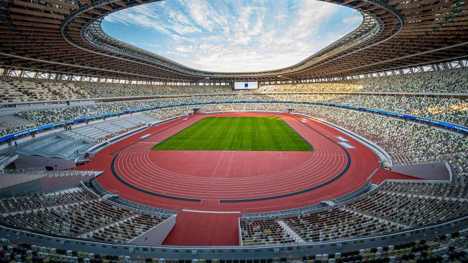 Das leere Olympiastadion in Tokio