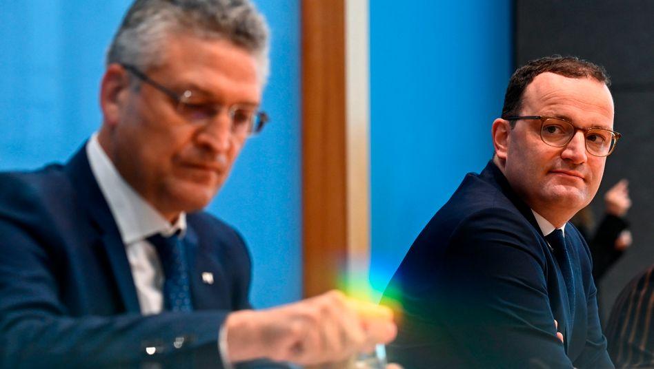 RKI-Chef Wieler (l.), Bundesgesundheitsminister Spahn