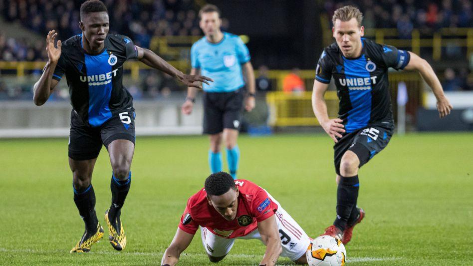 Brügge-Profis im Europa-League-Spiel gegen Manchester United: Vorzeitiger Meister in Belgien