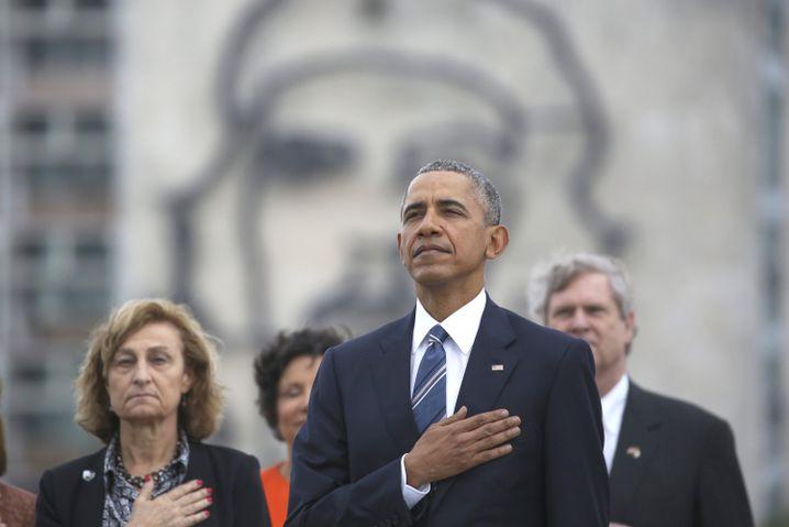 Obama und Commandante Che Guevara
