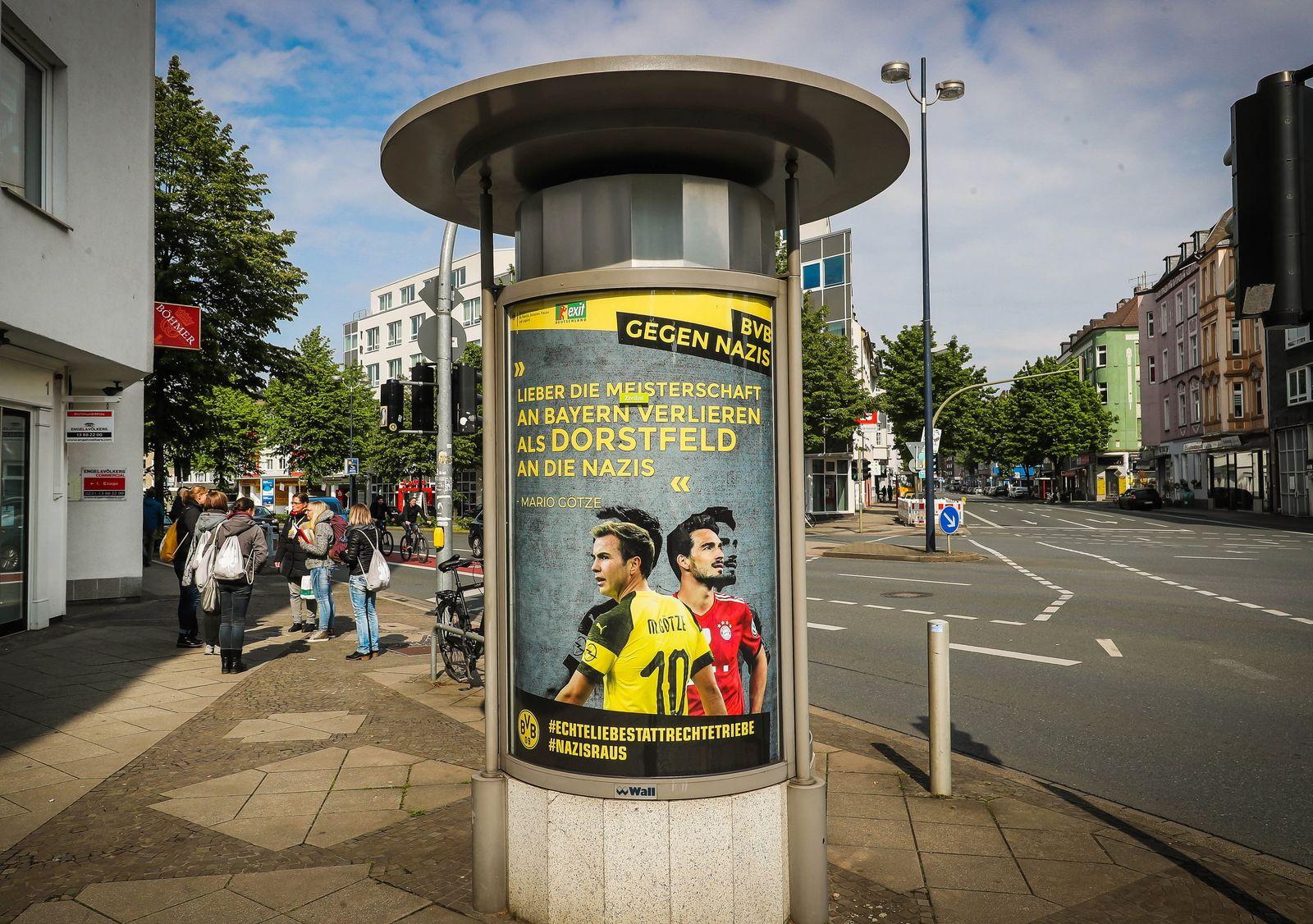 Borussia Dortmund/ Plakate/ BVB gegen Nazis