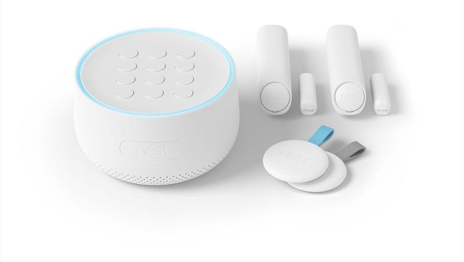 Nest Secure von Google mit Nest Guard (links)