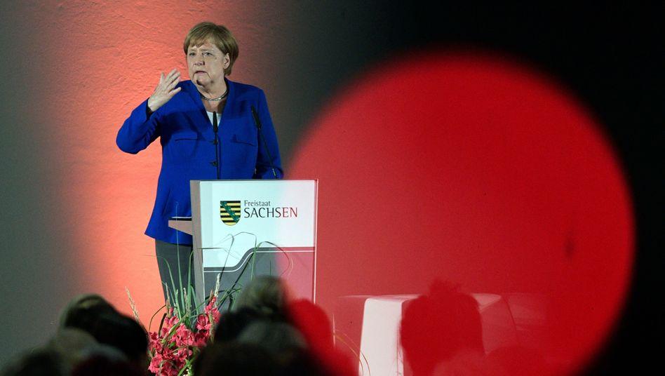 Bundeskanzlerin Angela Merkel machte in Sachsen Wahlkampf für die CDU, der eigentlich gar nicht gewollt war