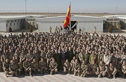 Spanish King Juan Carlos visited his troops in Afghanistan last December.