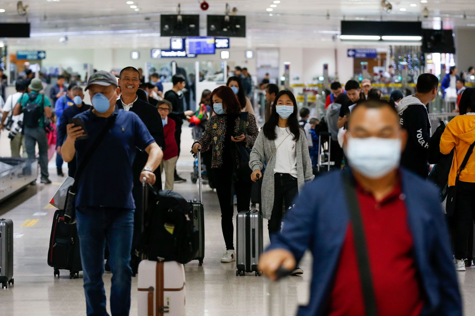 Coronavirus security measures at the Manila International Airport in Manila, Philippines - 22 Jan 2020
