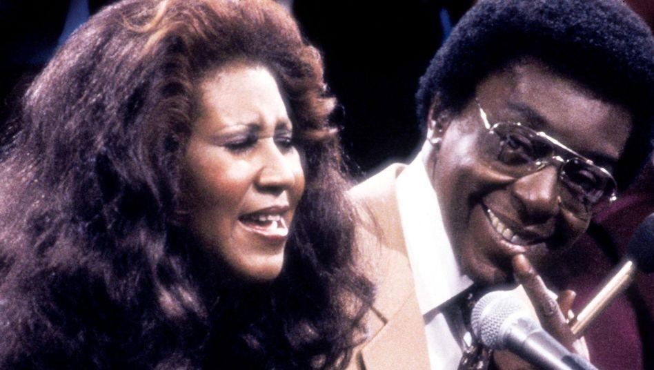 Aretha Franklin mit Produzent Don Cornelius
