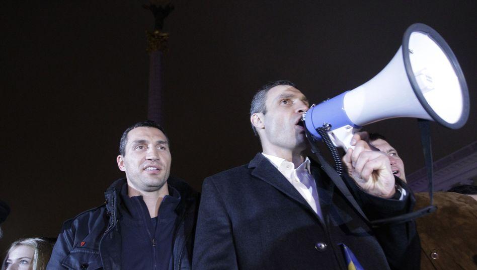 Klitschko-Brüder in Kiew (Archiv): Vor allem Vitali rief zur Revolution der Ukraine