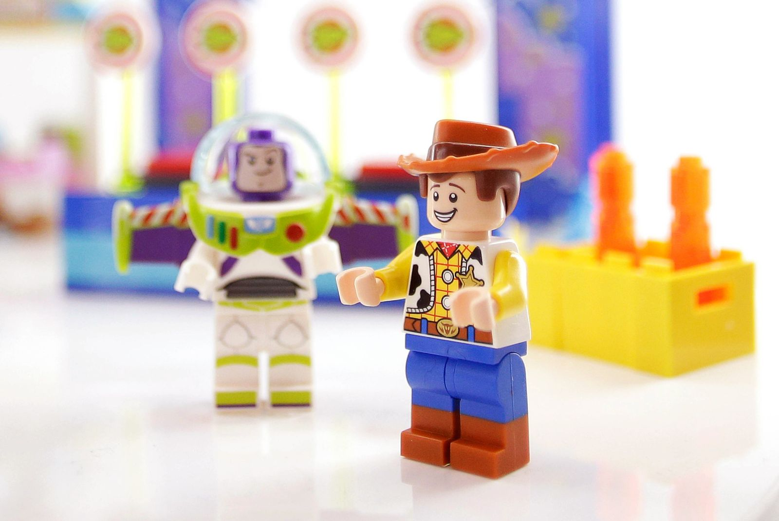 Toy Story toys from Lego are on display at the at 116th American International Toy Fair at the Jaco