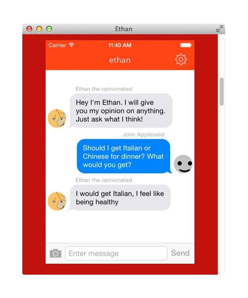 NUR ALS ZITAT Screenshot ethan/ App/ textethan.com