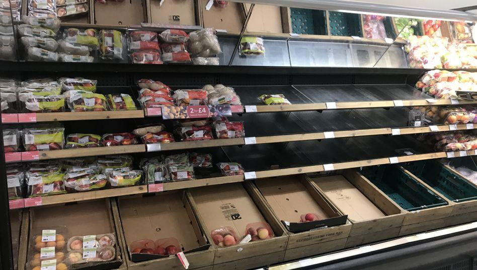 Supermarkt in Belfast, Nordirland: Die St??rungen im Warenverkehr sind offenbar bereits zu sp??ren