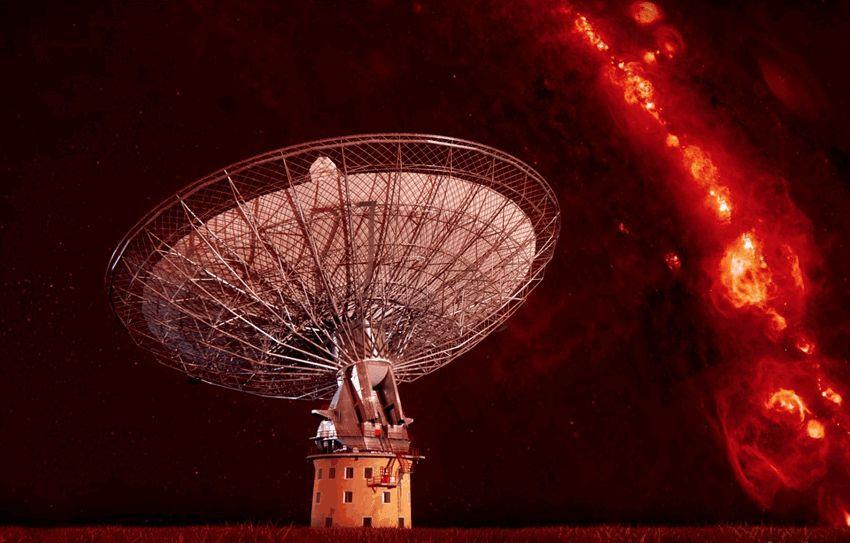 Radioblitzes am Nachthimmel