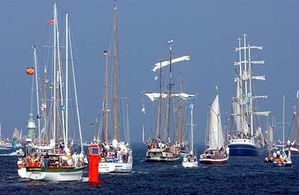 Mehr als 250 Schiffe sowie über eine Million Besucher waren zur 13. Hanse Sail in Rostock gekommen