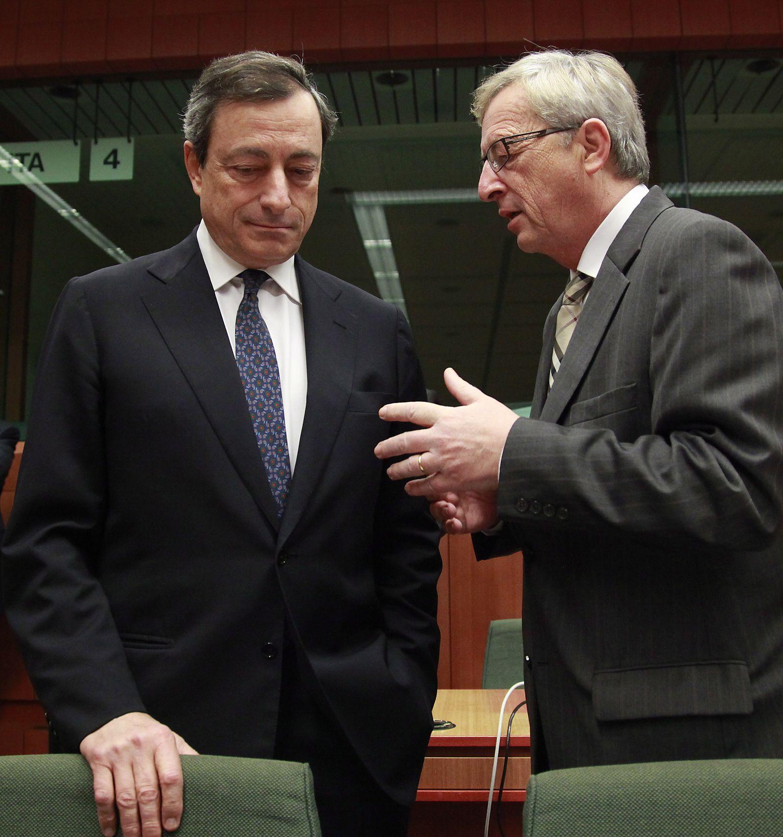 Mario Draghi/ Jean-Claude Juncker