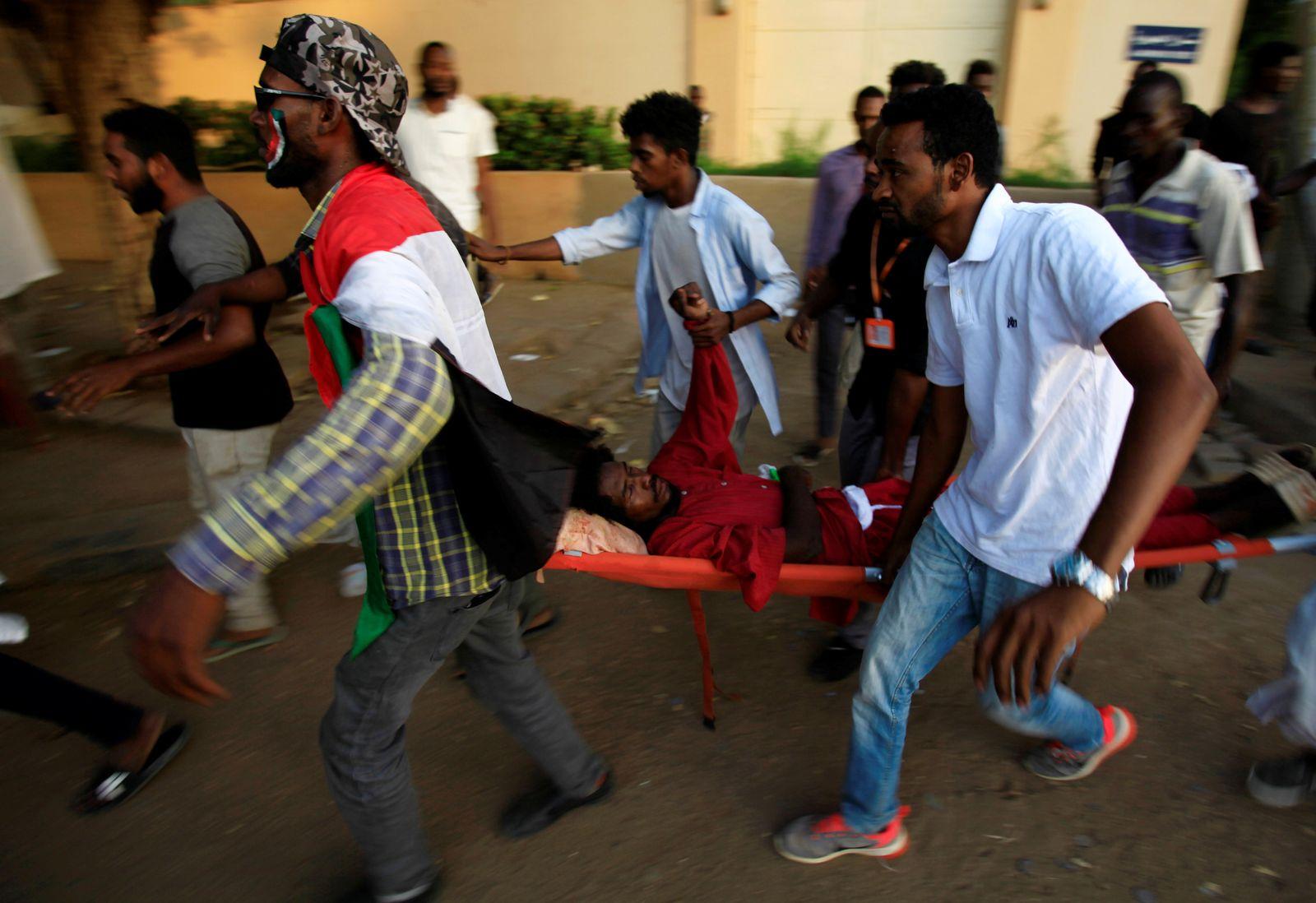 Sudan Demonstranten Verwundeter