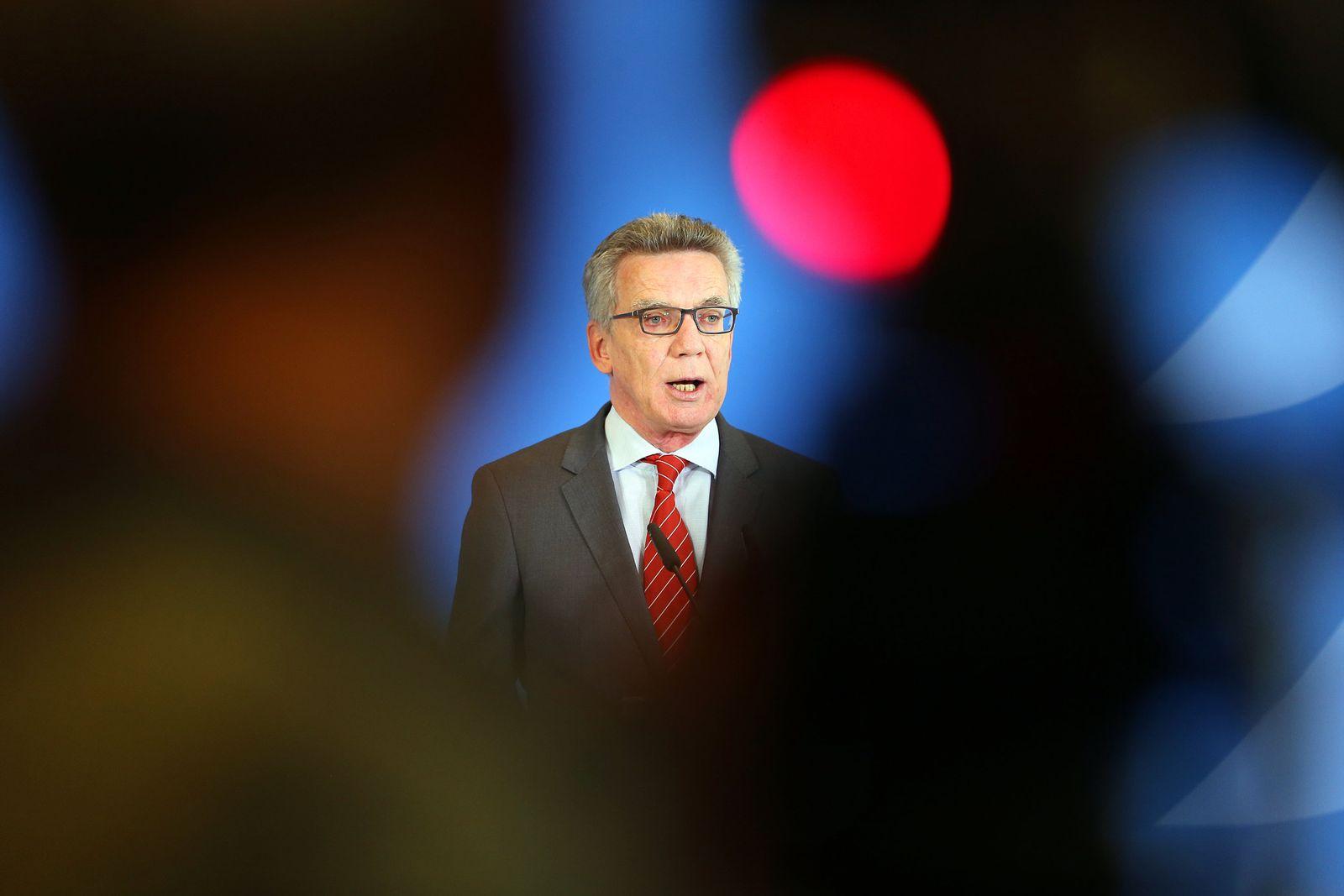 Statement Bundesinnenminister Thomas de Maizière