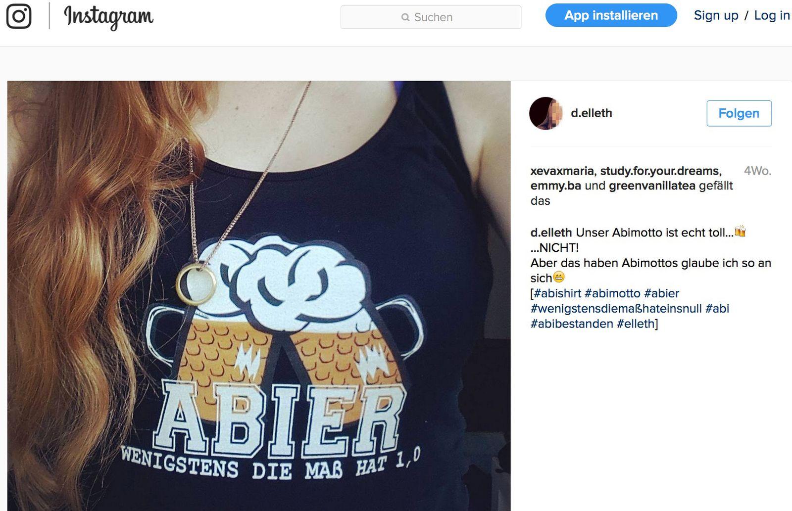 EINMALIGE VERWENDUNG Instagram / d.elleth