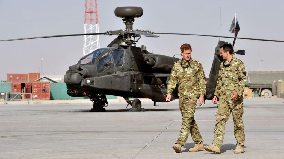 Prinz Harry bei der Ankunft in Afghanistan am Freitag: Drohung der Taliban