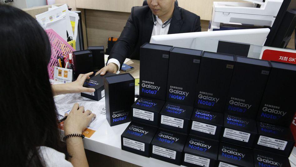 Austausch von Galaxy Note7 in Südkorea