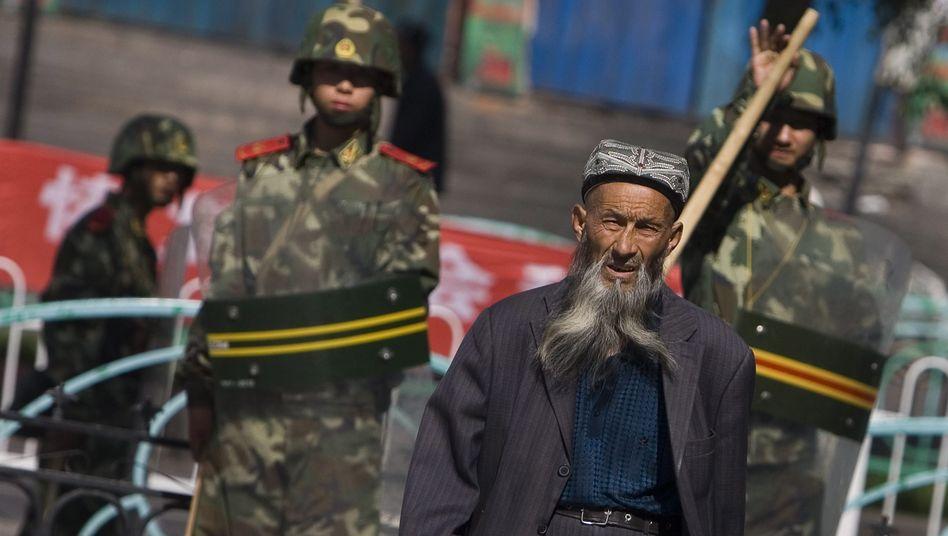 Ein Angehöriger der uigurischen Minderheit in der Provinz Xinjiang