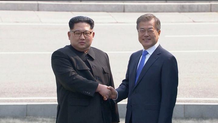Treffen von Kim und Moon: Ein Schritt nach vorn