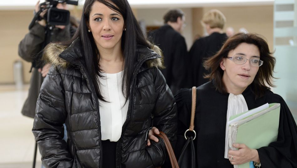 """Not guilty"": The mother of ""Jihad"" is pictured at a French court in Avignon in December."