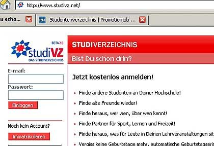 Studivz.de: Online-Gemeinschaft für Studierende
