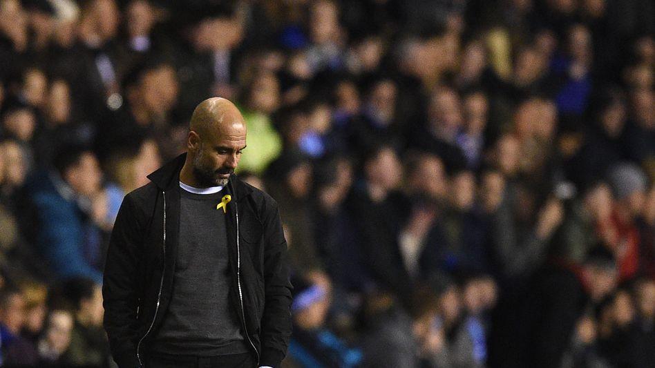 Enttäuschter Pep Guardiola