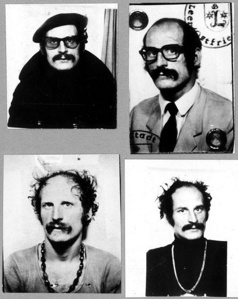 Passfotos von Dieter Kunzelmann: Mann mit vielen Gesichtern