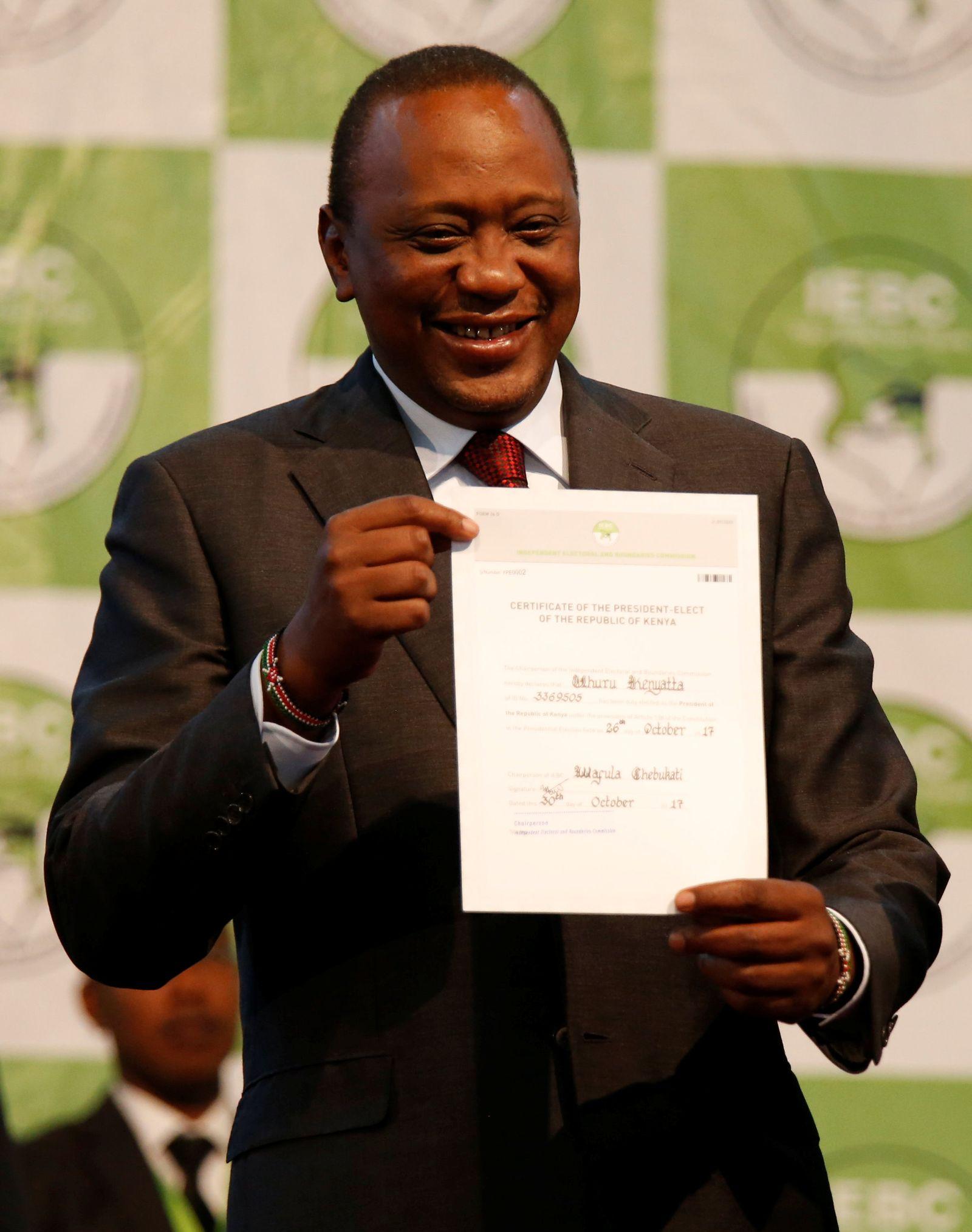 Uhuru Kenyatta / KENYA-ELECTION/
