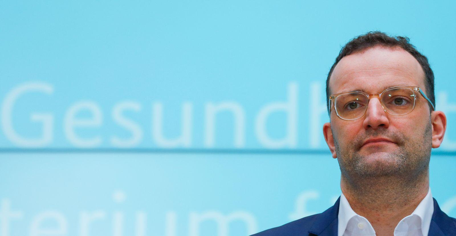 German Health Minister Spahn addresses a news conferencein Berlin