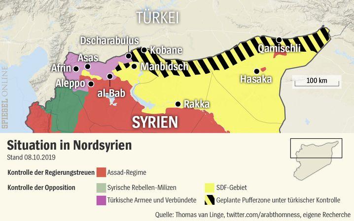 Die Türkei rückt auf Stellung der YPG in Syrien vor - wo und wann endet die Offensive?