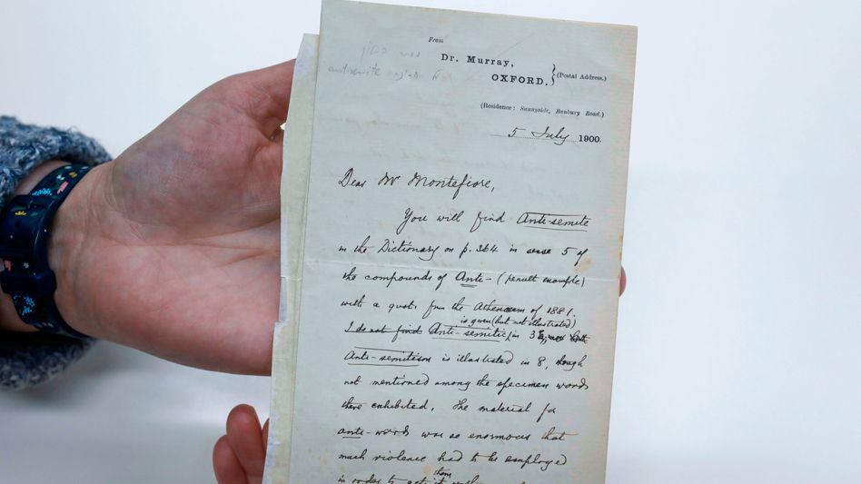 Brief des Herausgebers James Murray