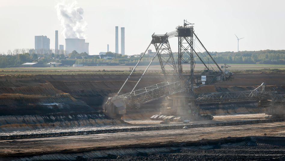 Braunkohletagebau in Inden in Nordrhein-Westfalen