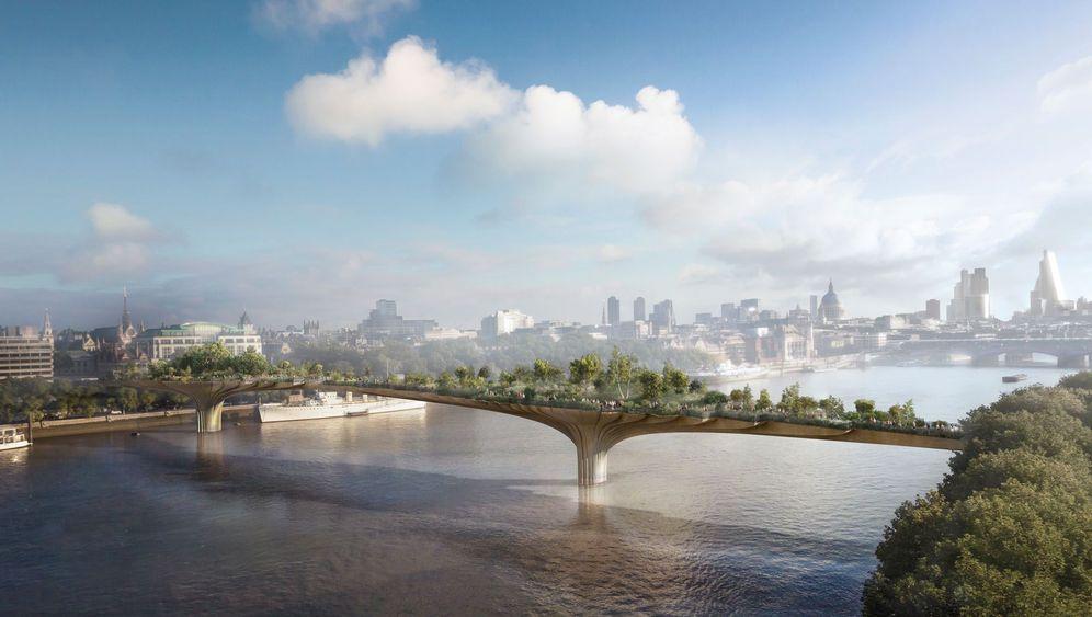 Grüne Brücke in London: Der Garten auf der Themse