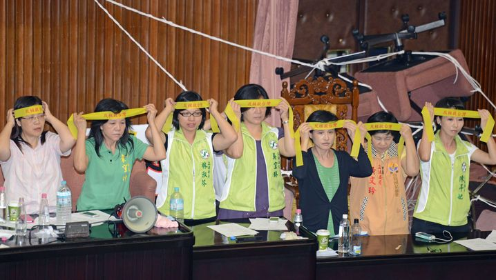 Prügelei in Taiwan: Schlagabtausch im Parlament