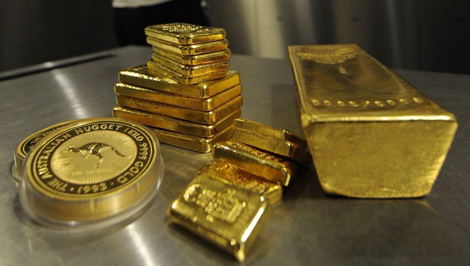 Münzen und Barren aus Gold: Auf breite Streuung achten