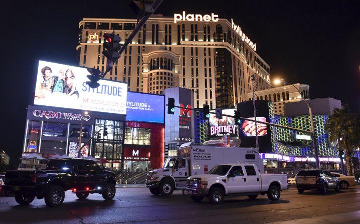 Unfallort in Las Vegas: Frau fuhr mit Auto in Menschenmenge