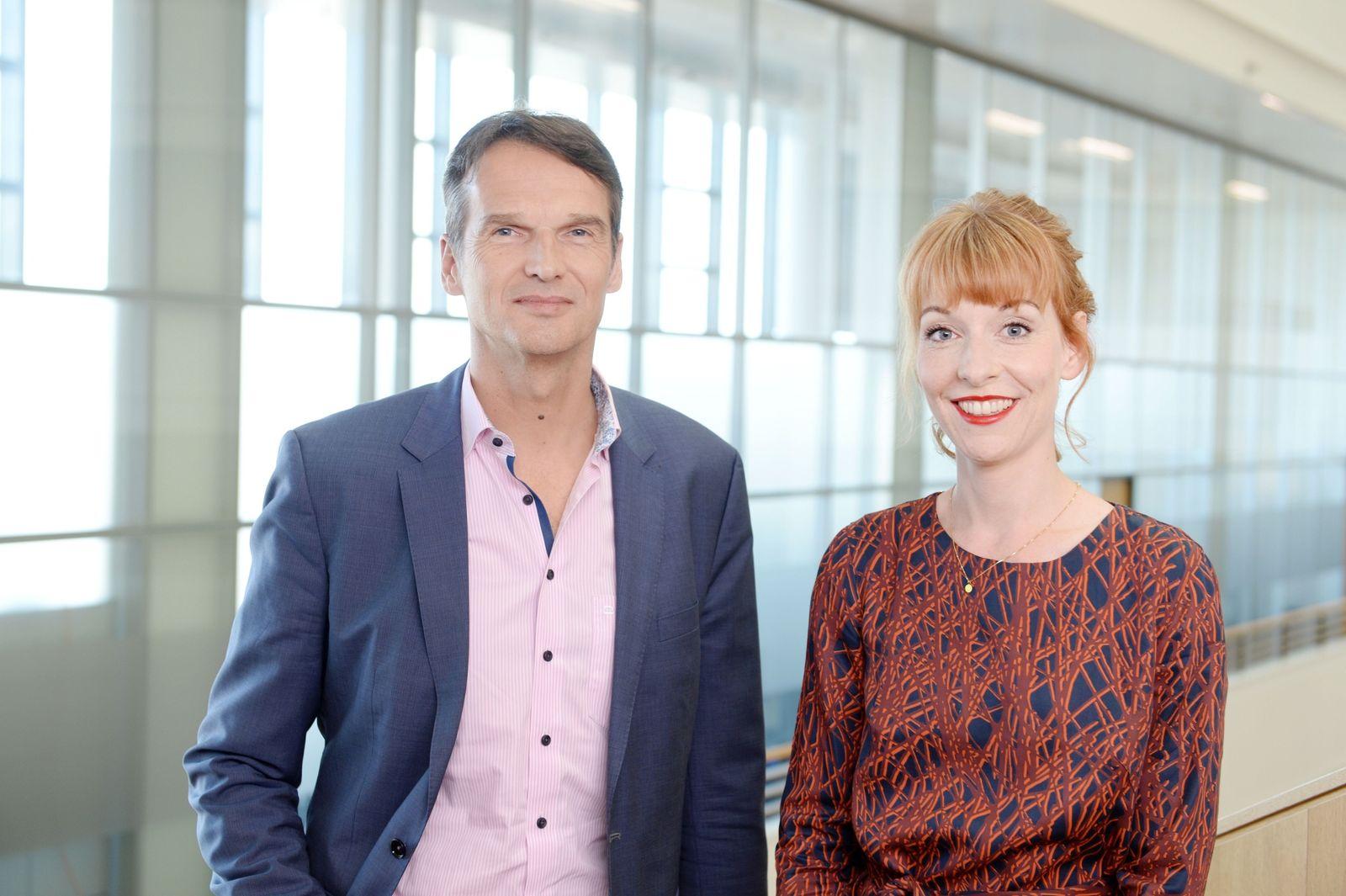 SPIEGEL-Chefredakteur Klaus Brinkbäumer, SPIEGEL-ONLINE-Chefredakteurin Barbara Hans