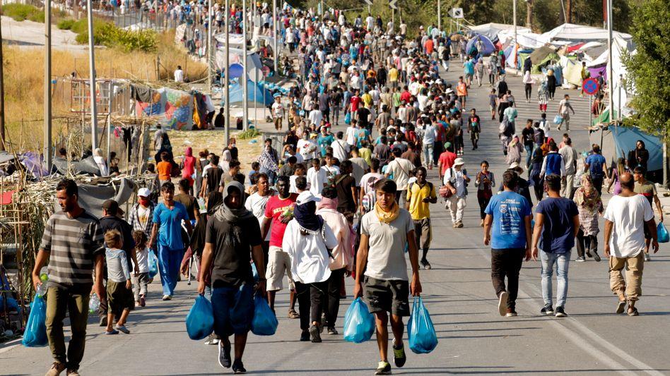 Flüchtlinge auf der griechischen Insel Lesbos