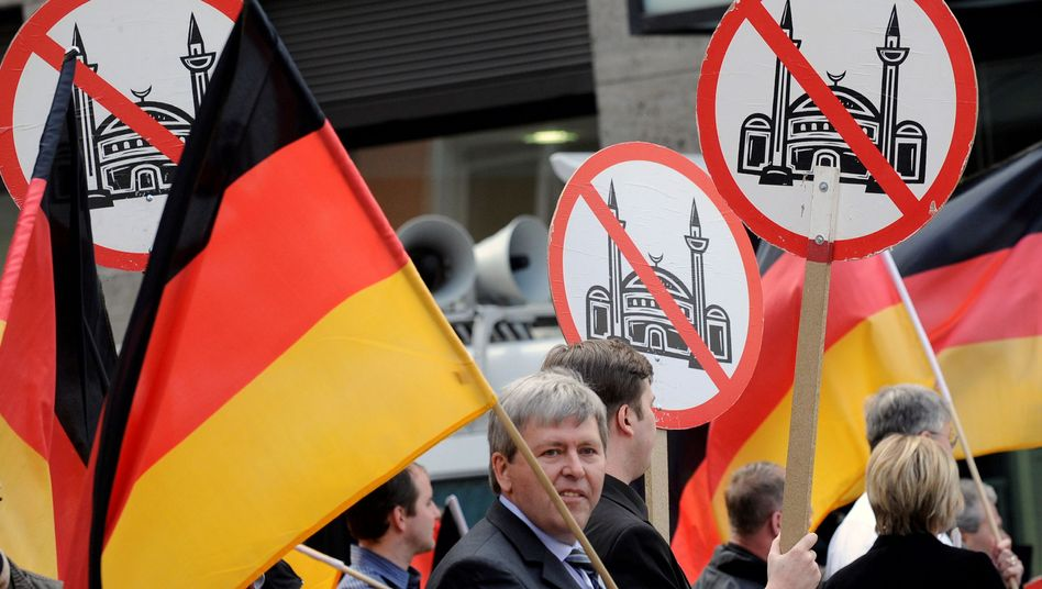 A Pro NRW demonstration in 2010. German security authorities are monitoring the far- right group.
