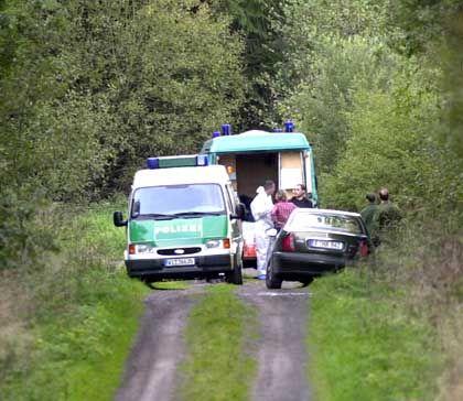 Mord an Jakob von Metzler: Die Polizei sichert Spuren am Fundort der Leiche