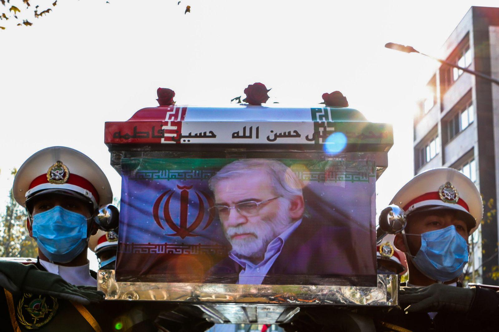 Funeral of assassinated Iranian nuclear scientist, Qom, Iran Islamic Republic Of - 20 Apr 2016