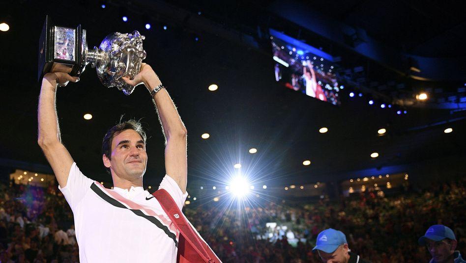 Roger Federer in Melbourne
