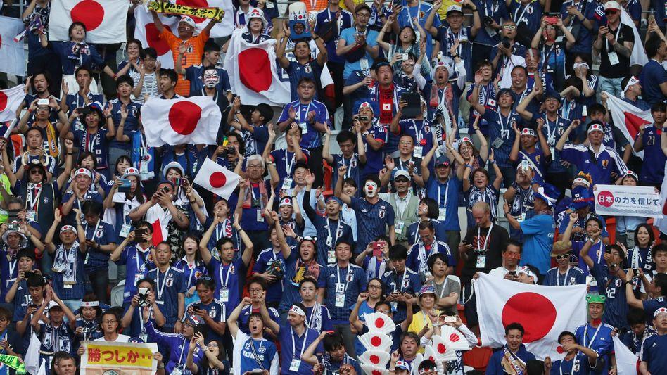 Japanische Fans in Saransk