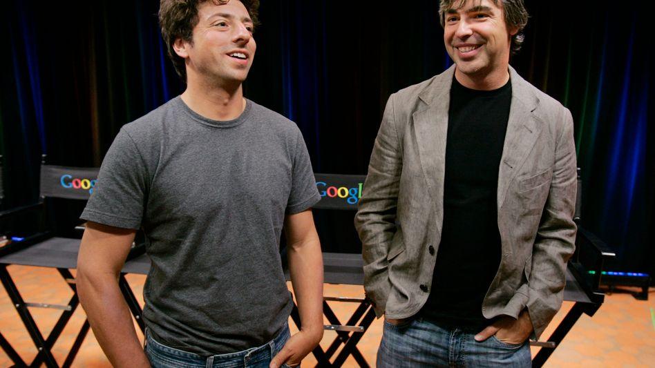 """Sergey Brin (l.) und Larry Page (Archivbild von 2008): """"An der Zeit, das Nest zu verlassen"""""""