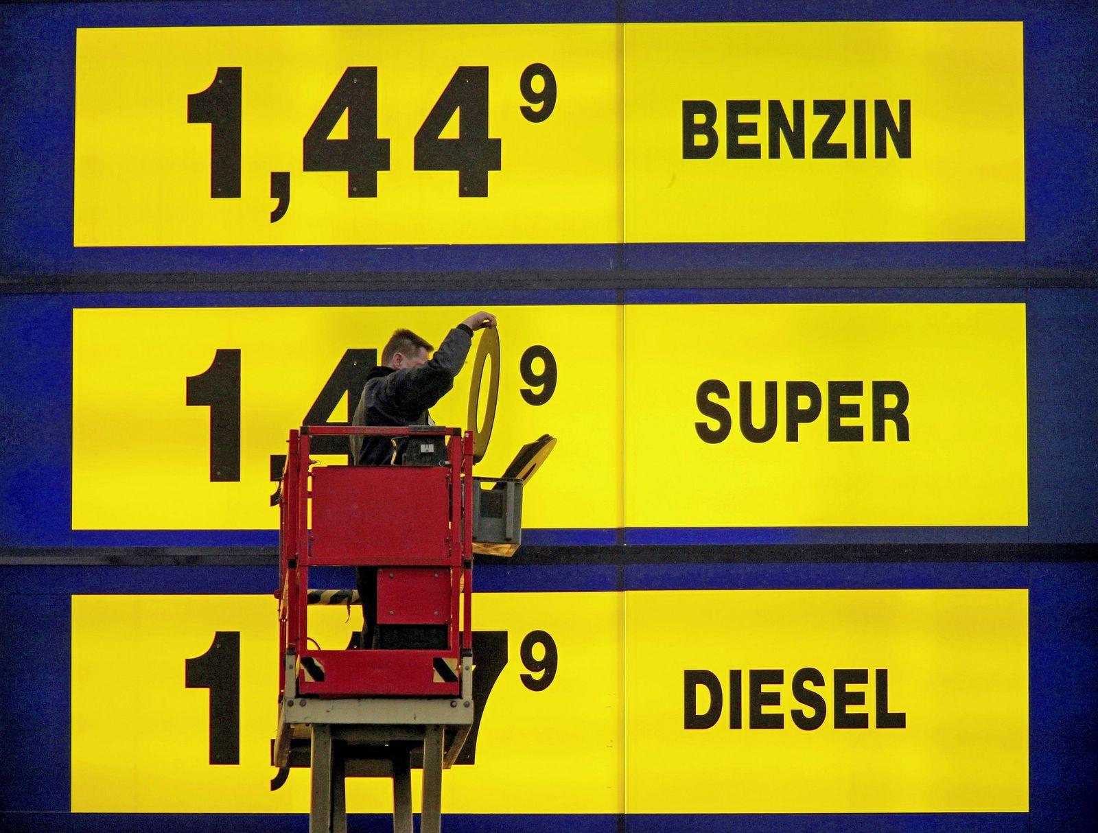 Benzinpreiserhöhung
