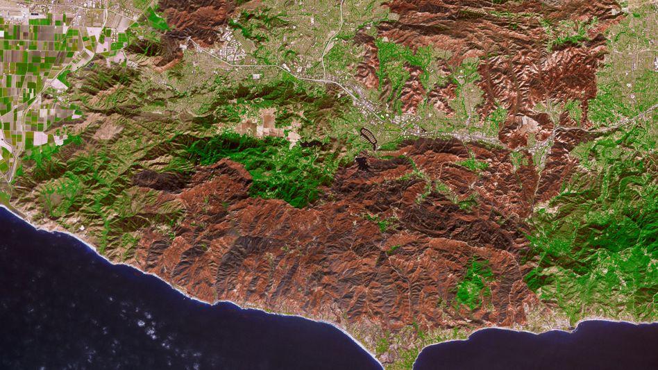 """Region um das """"Woolsey Fire"""" in Südkalifornien"""