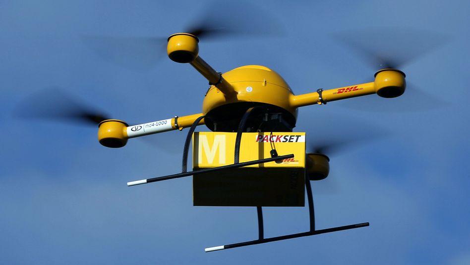 Drohnen-Test der Post: Vom Himmel hoch